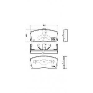 BREMBO P 16 005 Комплект тормозных колодок, дисковый тормоз Дайхатсу Аплоус