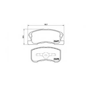 BREMBO P 16 008 Комплект тормозных колодок, дисковый тормоз Дайхатсу