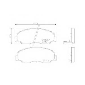 BREMBO P 16 012 Комплект тормозных колодок, дисковый тормоз Дайхатсу