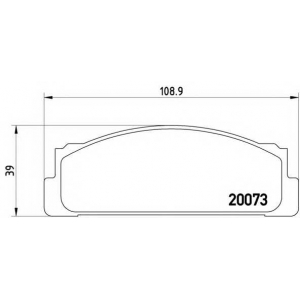 BREMBO P 23 003 Комплект тормозных колодок, дисковый тормоз Фиат Фиорино