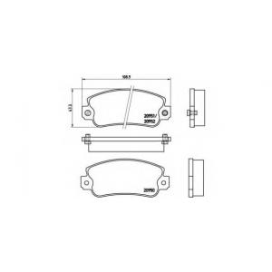 BREMBO P 23 013 Комплект тормозных колодок, дисковый тормоз Фиат Ритмо