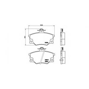 BREMBO P 23 017 Комплект тормозных колодок, дисковый тормоз Фиат Ритмо