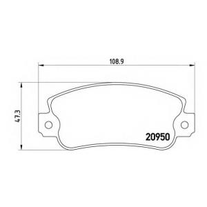 BREMBO P 23 021 Комплект тормозных колодок, дисковый тормоз Фиат Регата