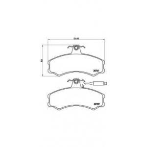 BREMBO P 23 022 Комплект тормозных колодок, дисковый тормоз Фиат Таленто