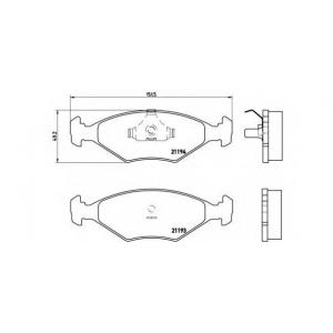 BREMBO P 23 040 Комплект тормозных колодок, дисковый тормоз Фиат Фиорино