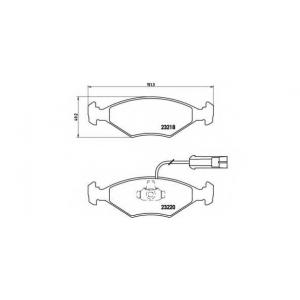 BREMBO P 23 056 Комплект тормозных колодок, дисковый тормоз Фиат Албеа