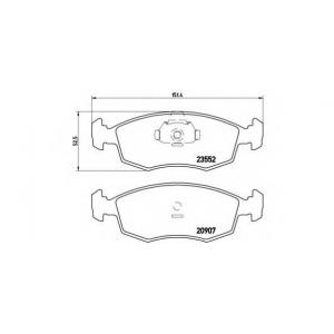 BREMBO P 23 079 Комплект тормозных колодок, дисковый тормоз Фиат Страда
