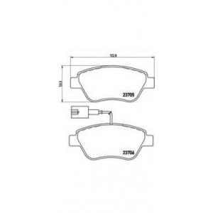 p23085 brembo Комплект тормозных колодок, дисковый тормоз FIAT PANDA Наклонная задняя часть 1.4 Natural Power