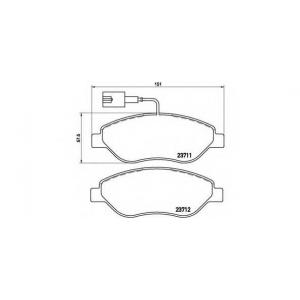BREMBO P23086 Тормозные колодки Brembo