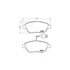 BREMBO P23 087 Колодки тормозные дисковые, к-кт.