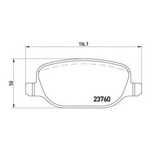 BREMBO P 23 089 Комплект тормозных колодок, дисковый тормоз Лансия