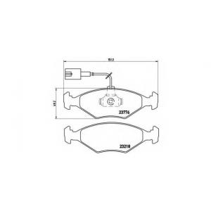 BREMBO P 23 122 Комплект тормозных колодок, дисковый тормоз Фиат Албеа