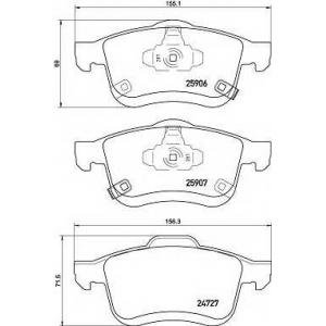 BREMBO P 23 156 Комплект тормозных колодок, дисковый тормоз Фиат 500Л