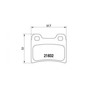BREMBO P 24 030 Комплект тормозных колодок, дисковый тормоз Киа Сефия