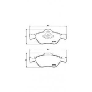 Комплект тормозных колодок, дисковый тормоз p24055 brembo - FORD FIESTA IV (JA_, JB_) Наклонная задняя часть 1.3 i