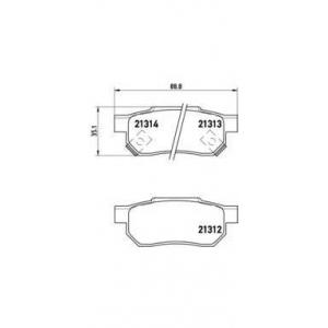 BREMBO P 28 017 Комплект тормозных колодок, дисковый тормоз Акура