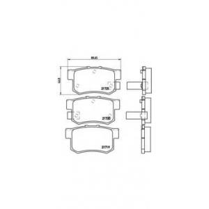 BREMBO P 28 022 Комплект тормозных колодок, дисковый тормоз Акура Легенд