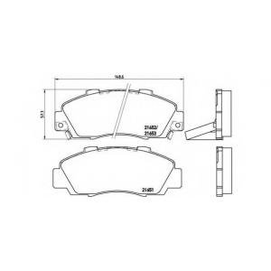 BREMBO P 28 026 Комплект тормозных колодок, дисковый тормоз Акура Нсх