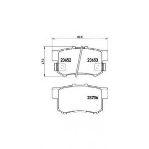�������� ��������� �������, �������� ������ p28039 brembo - HONDA SHUTTLE (RA) ��� 2.2 16V