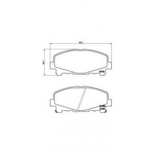 Комплект тормозных колодок, дисковый тормоз p28043 brembo - HONDA ACCORD IX (CU) седан 2.0 i