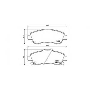Комплект тормозных колодок, дисковый тормоз p28045 brembo - HONDA CR-V III вездеход закрытый 2.0 i