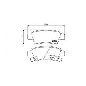 p28046 brembo Комплект тормозных колодок, дисковый тормоз HONDA CR-V вездеход закрытый 2.4 i-VTEC 4WD