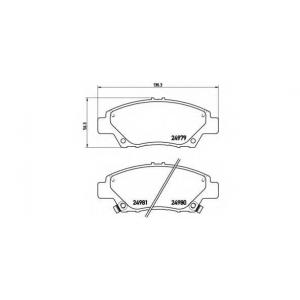 BREMBO P 28 050 Комплект тормозных колодок, дисковый тормоз Хонда Црз