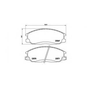 BREMBO P30013 Тормозные колодки дисковые