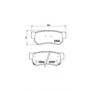 Комплект тормозных колодок, дисковый тормоз p30014 brembo - HYUNDAI SONATA IV (EF) седан 2.5 V6 24V