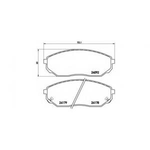 Комплект тормозных колодок, дисковый тормоз p30019 brembo - KIA SORENTO (JC) вездеход закрытый 2.4