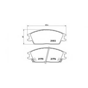 Комплект тормозных колодок, дисковый тормоз p30024 brembo - HYUNDAI ACCENT I (X-3) Наклонная задняя часть 1.3