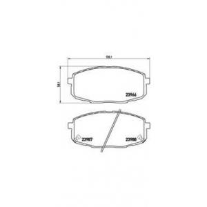 Комплект тормозных колодок, дисковый тормоз p30034 brembo - KIA CARENS II (FJ) вэн 1.6