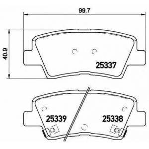 BREMBO P30 067 Колодки тормозные дисковые, к-кт.