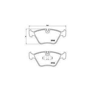 BREMBO P 36 007 Комплект тормозных колодок, дисковый тормоз Ягуар