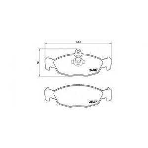 BREMBO P36017 Комплект тормозных колодок, дисковый тормоз