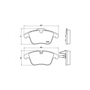 BREMBO P36 022 Колодки тормозные дисковые, к-кт.