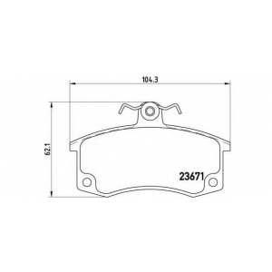 Комплект тормозных колодок, дисковый тормоз p41004 brembo - LADA SAMARA (2108, 2109) Наклонная задняя часть 1300