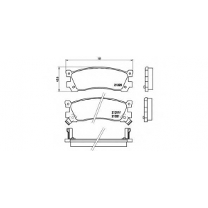 BREMBO P 49 025 Комплект тормозных колодок, дисковый тормоз Мазда 929