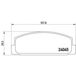 Комплект тормозных колодок, дисковый тормоз p49036 brembo - MAZDA RX 7 I (SA) купе Wankel