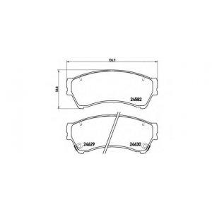 Комплект тормозных колодок, дисковый тормоз p49039 brembo - MAZDA 6 (GH) седан 1.8 MZR