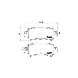 BREMBO P 49 047 Комплект тормозных колодок, дисковый тормоз Мазда Ц-Икс 5