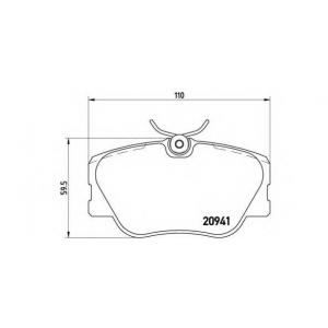 p50008 brembo Комплект тормозных колодок, дисковый тормоз MERCEDES-BENZ 190 седан E 2.3-16