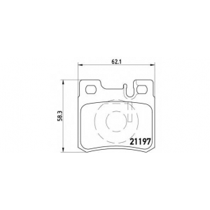 p50009 brembo Комплект тормозных колодок, дисковый тормоз MERCEDES-BENZ седан (W124) седан 250 D (124.125)