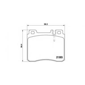 Комплект тормозных колодок, дисковый тормоз p50018 brembo - MERCEDES-BENZ S-CLASS (W140) седан S 350 Turbo-D (140.134)