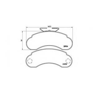 BREMBO P 50 021 Комплект тормозных колодок, дисковый тормоз Мерседес 100