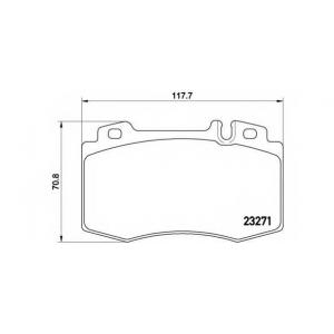 p50041 brembo Комплект тормозных колодок, дисковый тормоз MERCEDES-BENZ SL кабрио 280 (129.058)