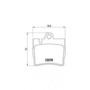 Комплект тормозных колодок, дисковый тормоз p50042 brembo - MERCEDES-BENZ S-CLASS (W220) седан S 320 (220.065, 220.165)