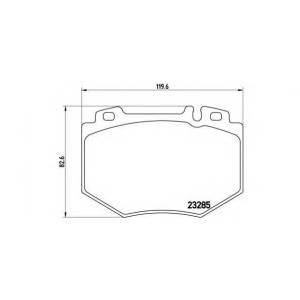 Комплект тормозных колодок, дисковый тормоз p50048 brembo - MERCEDES-BENZ S-CLASS (W220) седан S 500 (220.075, 220.175, 220.875)