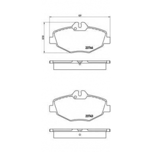 Комплект тормозных колодок, дисковый тормоз p50049 brembo - MERCEDES-BENZ E-CLASS (W211) седан E 320 (211.065)