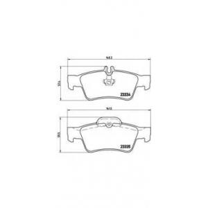 BREMBO P50052 Тормозные колодки дисковые